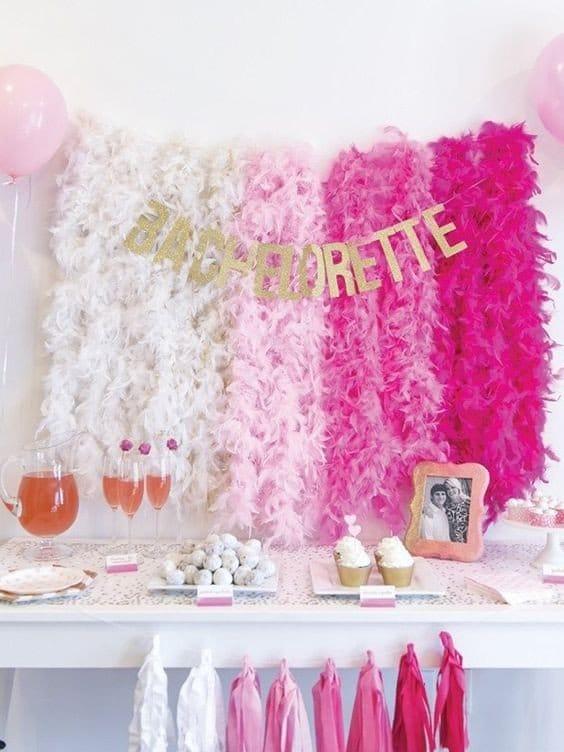 Kuchenbüfett Dekoration - Ideen für den Junggesellinnenabschied