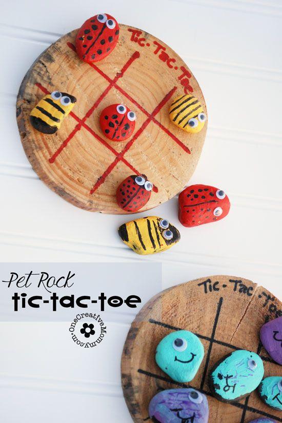 Tic-Tac-Toe – Drei gewinnt Spiel mit Käfern und Monstern