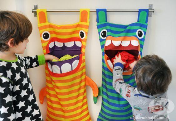 Monster-Wäschesack - Geschenkideen selber machen für Kinder