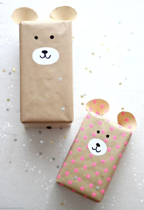 Handgemachte Geschenke für Kinder süß verpacken