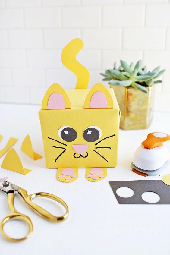 Geschenkideen selber machen – Katzengeschenkverpackung