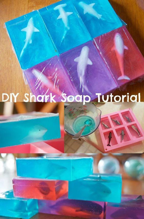 Haiseife - kleine Geschenke für Jungs basteln