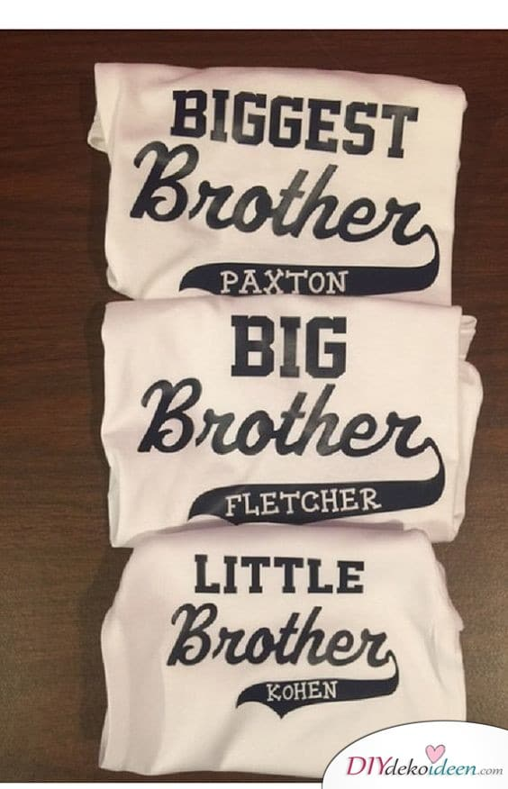 Printed shirts for siblings - Gift for the brother