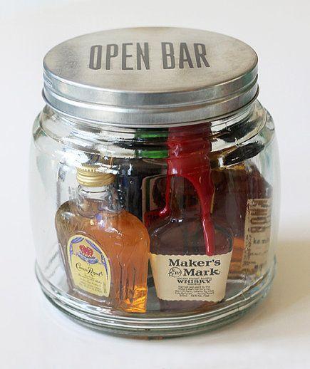 Bar im Einmachglas - Geschenk für den Bruder selber machen