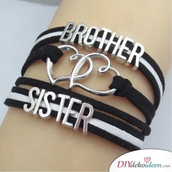 Brother-sister bracelets - gift idea