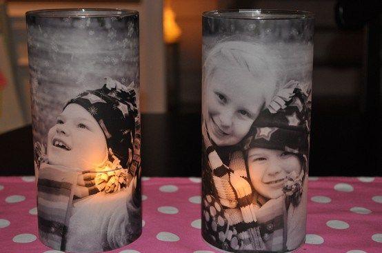 Kerzengläser mit Fotos - Geschenk für den großen Bruder