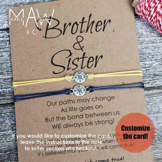Bruder-Schwester-Armbänder mit Kompass