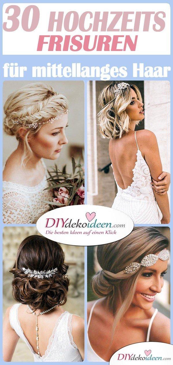 30 Wedding Hairstyles For Medium Hair Wonderful Hairstyles