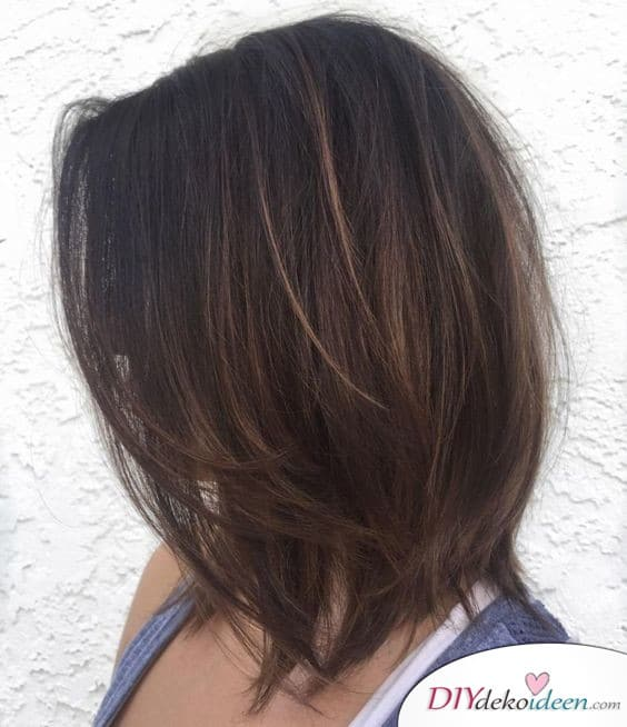 Shoulder length hairstyles - thin hair