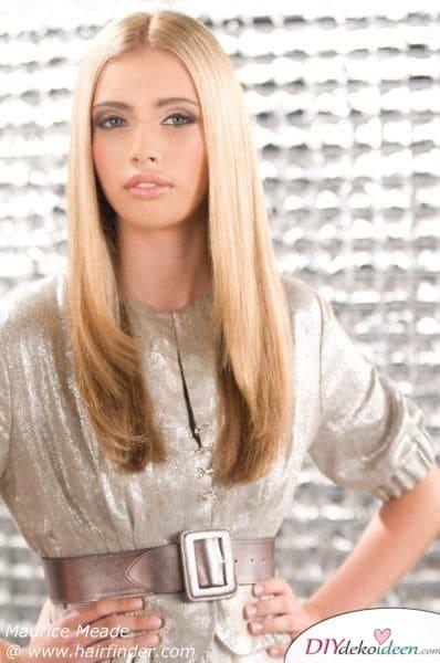 Frisuren für lange Haare – ganz glatt