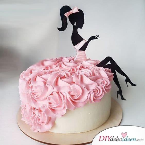 Geburtstagstorte mit Kleid