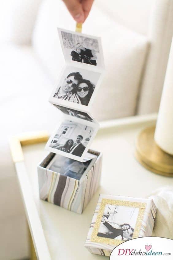 Ausklappbares Fotoalbum – Geschenkidee