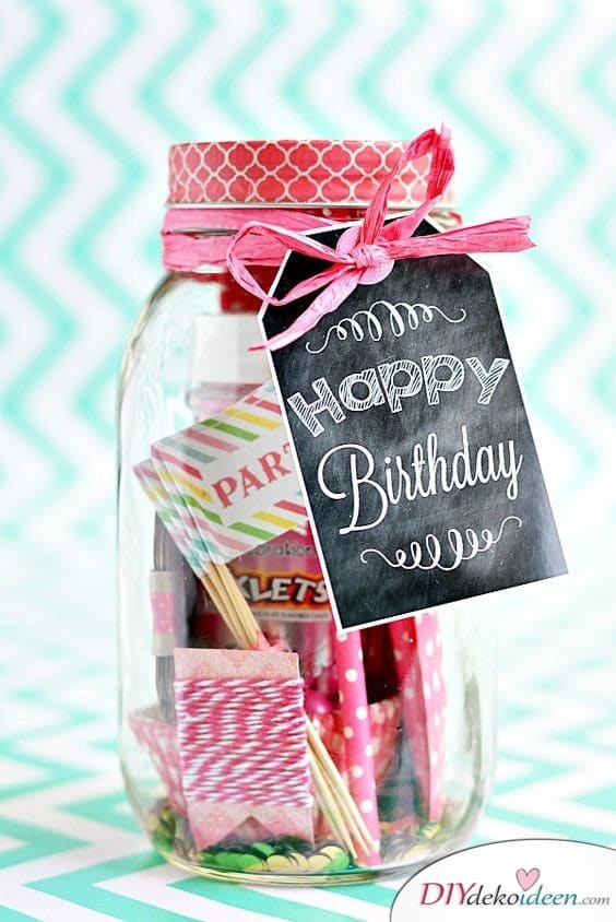 Birthday Party in Glass - Birthday Gifts for Women