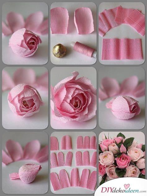 Pralinenblumenstrauß - Geschenke für Frauen zum Geburtstag
