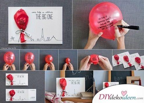 Luftballon mit Glückwunsch – Geburtstagskarte
