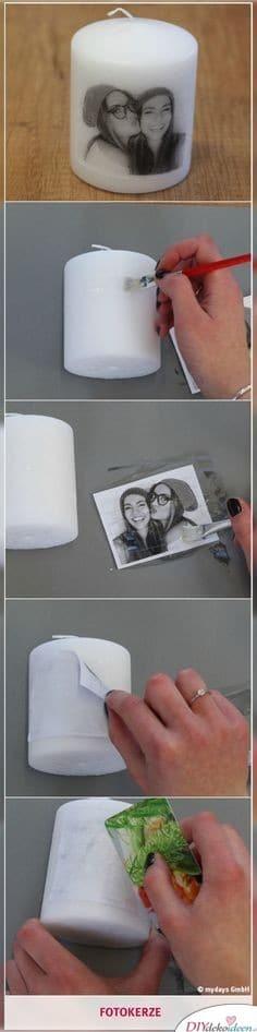 Fotokerze- Geschenkideen für Frauen zum Geburtstag