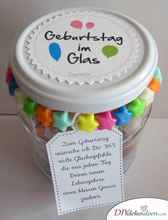 Geburtstag im Glas - Geschenk für die beste Freundin zum Geburtstag