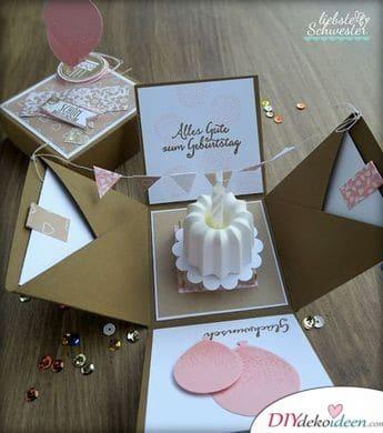 Kuchen in der Geschenkbox – Geburtstagsgeschenke