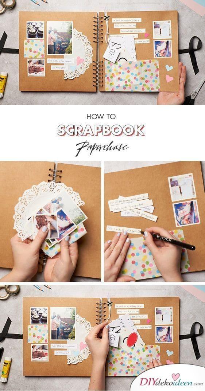 Scrapbook-Fotoalbum als Geburtstagsgeschenk für die beste Freundin