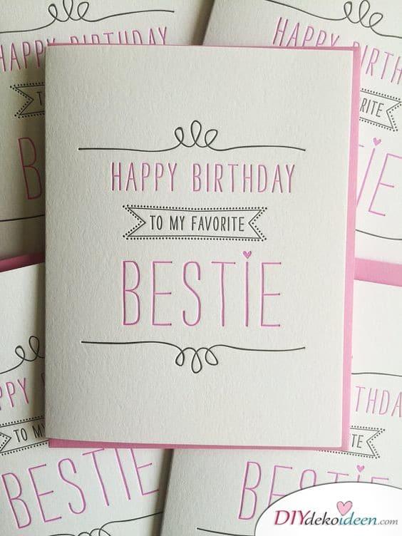 Geburtstagskarte für die beste Freundin