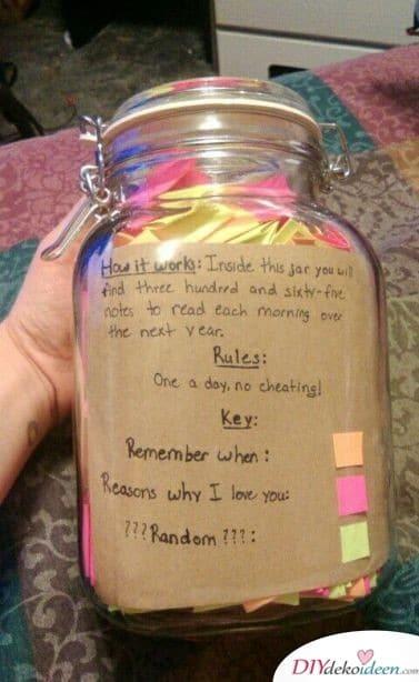 365-Tage-Glas - Geschenk für die beste Freundin zum Geburtstag