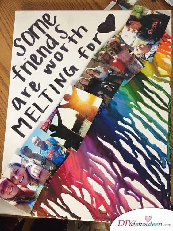 Fotokunstwerk - Geschenkideen zum selber machen zum Geburtstag