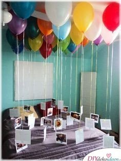 Hot air balloons with photos - Gift idea