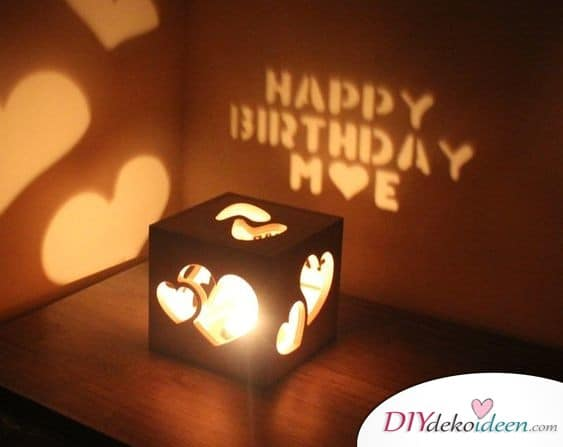 Message light box - men's gift ideas for birthday