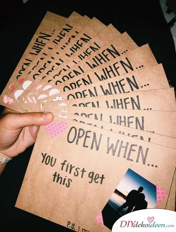 Open, when - Umschläge - Gift ideas