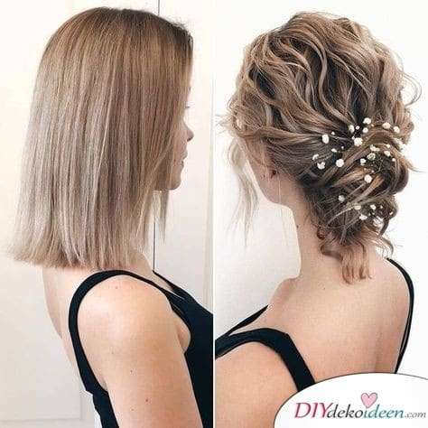 Hochzeitsfrisuren für mittellanges Haar – elegant und schick