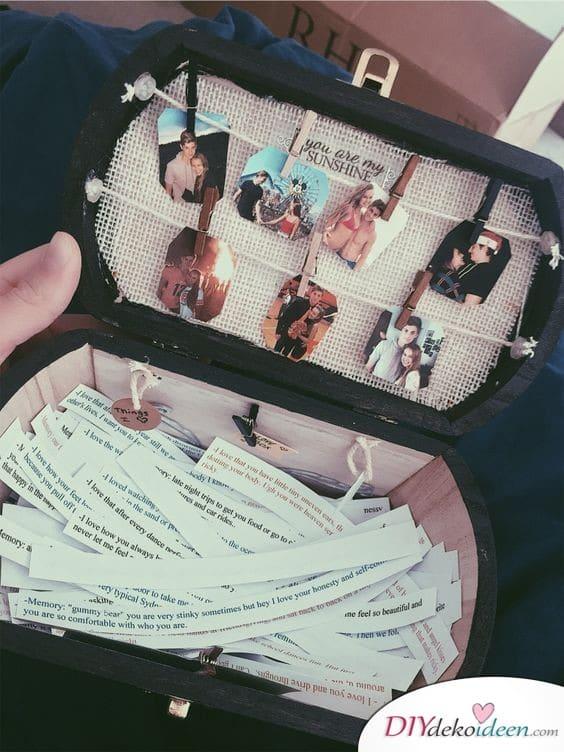 Erinnerungsbox - selbstgemachte Geschenke für die beste Freundin