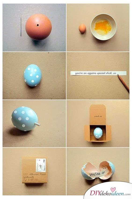 Ei mit Nachricht - Geschenkideen für die beste Freundin
