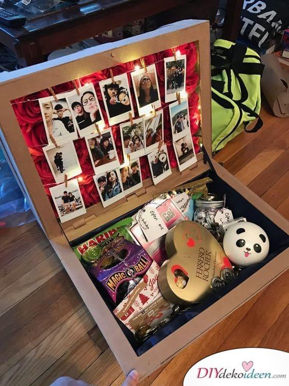 Geschenkbox mit Fotos - kreatives Geschenk für die beste Freundin