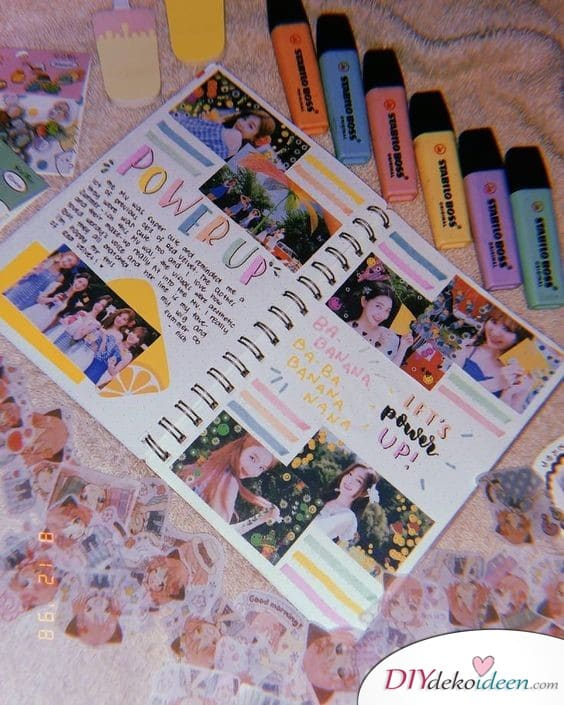 Buntes Photo Album - self-made gift for best friend