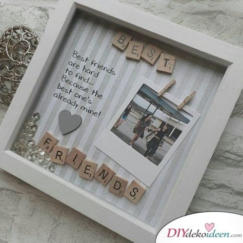 Picture frames - homemade gifts for the best girlfriend