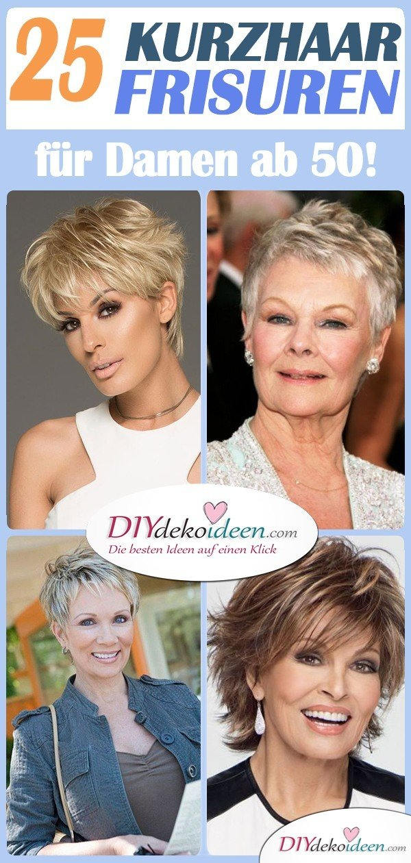 Short hairstyles for women from 50 - Elegant, stylish and modern