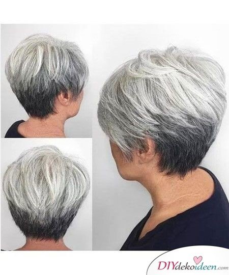 Short-haircuts for older women - Short-haircuts with thin staff