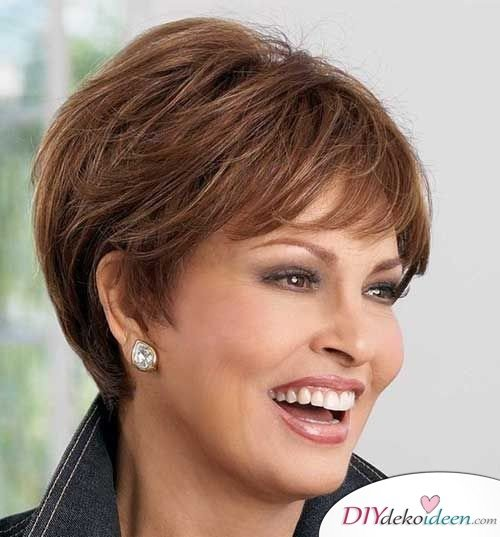 Short Hair Hairstyles For Women From 50 - Pixie Cut With Pony