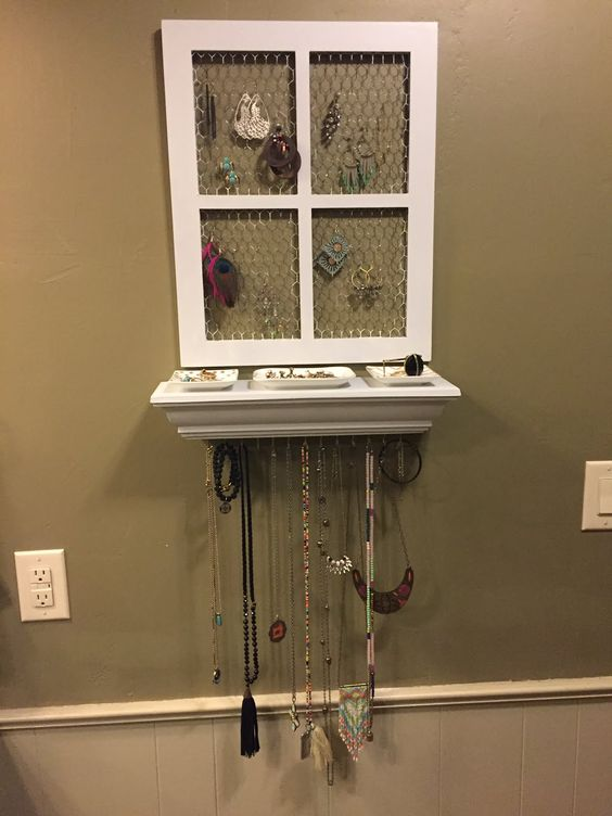 Jewelry Organizer Self-Making - Window