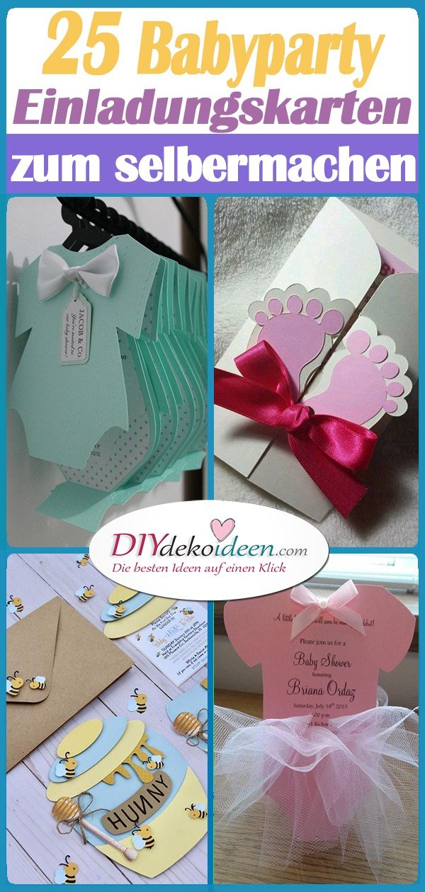 25 Baby Party Invitation Cards for Self-Making - The Most Beautiful Ideas