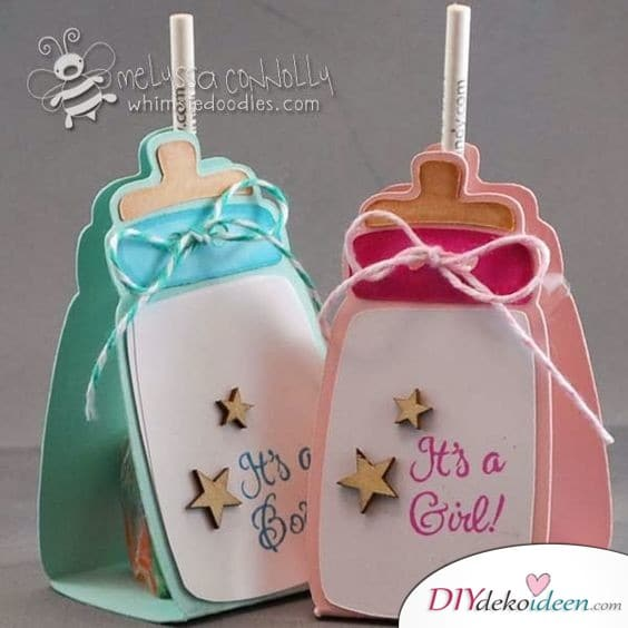 Baby Party Invitation - Nucle Bottle