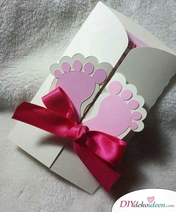 Footprint - Baby Party Invitation Cards