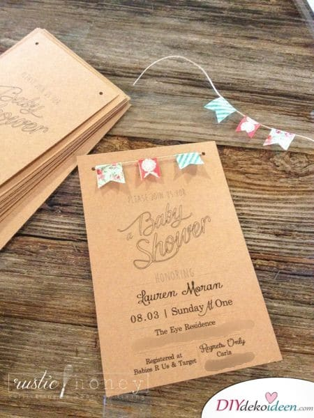 Baby Party Invitation Cards - Garland