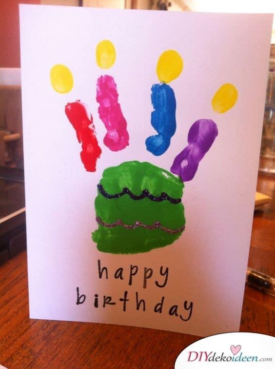 Geburtstagsgeschenk für Papa selber machen – Geburtstagskarte