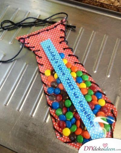 Süßigkeiten-Krawatte - Geburtstagsgeschenk für Papa