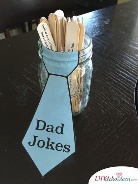 Papa-Witze im Glas – Geschenkidee