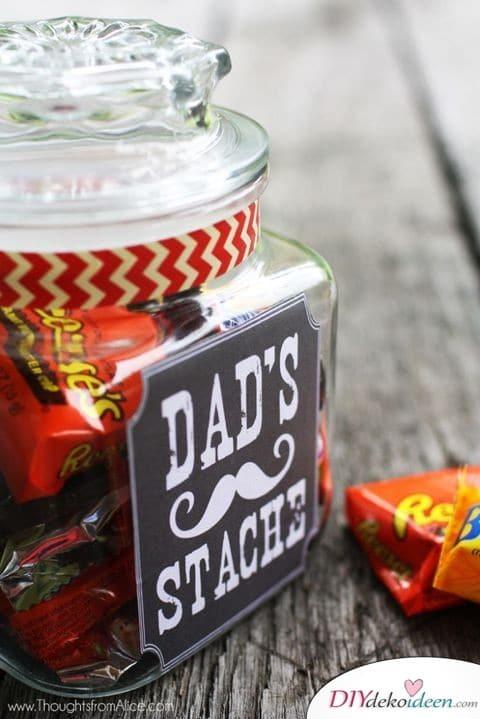 Süßigkeiten im Glas - Geschenk für Vater der schon alles hat