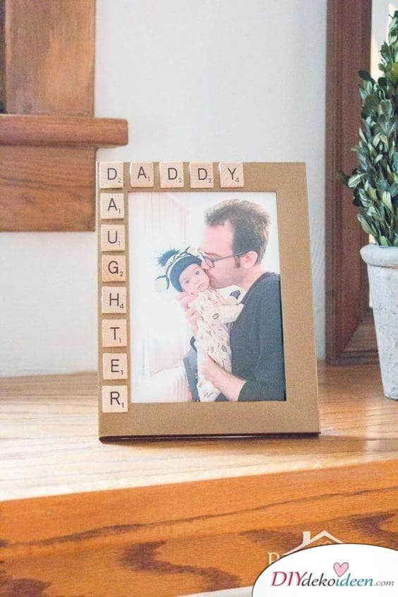 Father's Gift for Birth - Photo Frames with Letters
