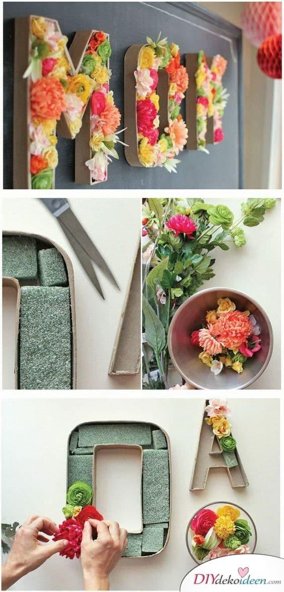 Blumenbild - Geschenke selbermachen