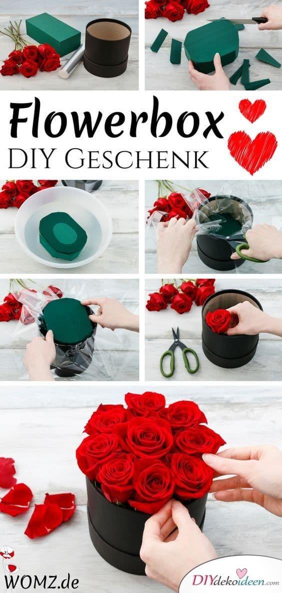 Blumenbox – Geschenke selbermachen